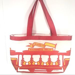 Vintage Mr. Rogers Neighborhood Trolley Canvas Bag
